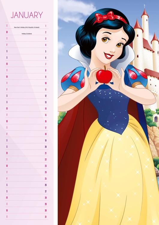 Calendar 2019  Princesas Disney