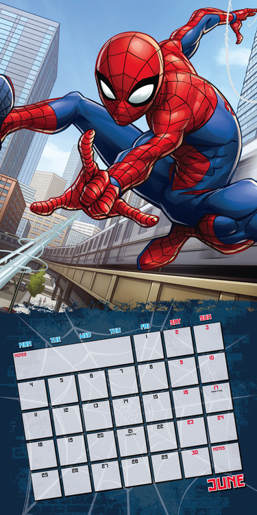 Calendar 2018 Spiderman