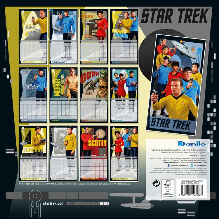 Calendar 2020  Star Trek TV Series (Classic)