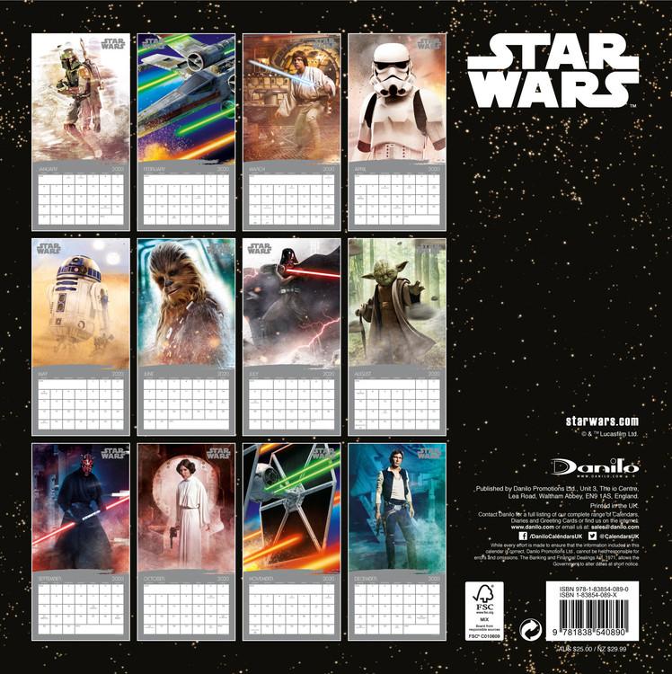 Calendar 2020 Star Wars - Classic