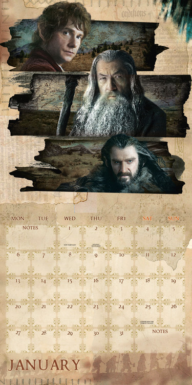 Calendar 2020  The Hobbit / Lord Of The Rings