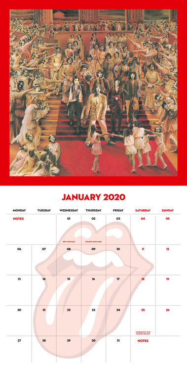 Calendar 2020  The Rolling Stones