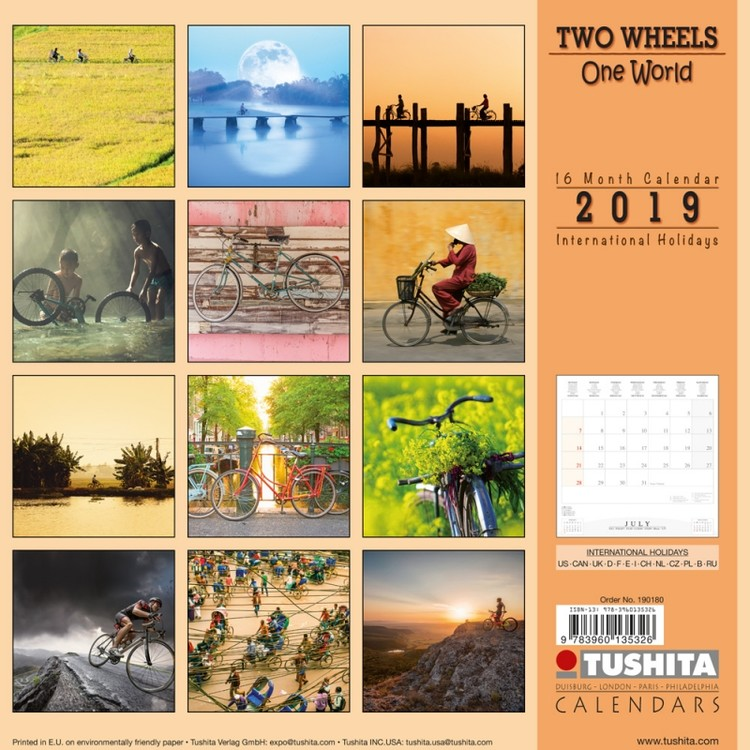 Calendar 2020  TWO wheels - ONE world