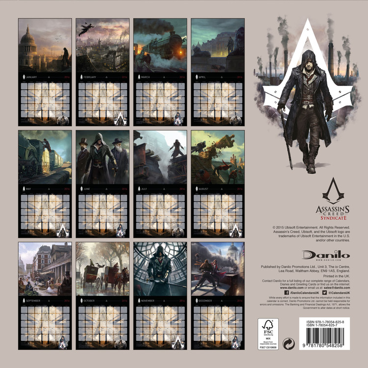 Assassin's Creed Syndicate   Calendriers | Achetez sur Europosters.fr