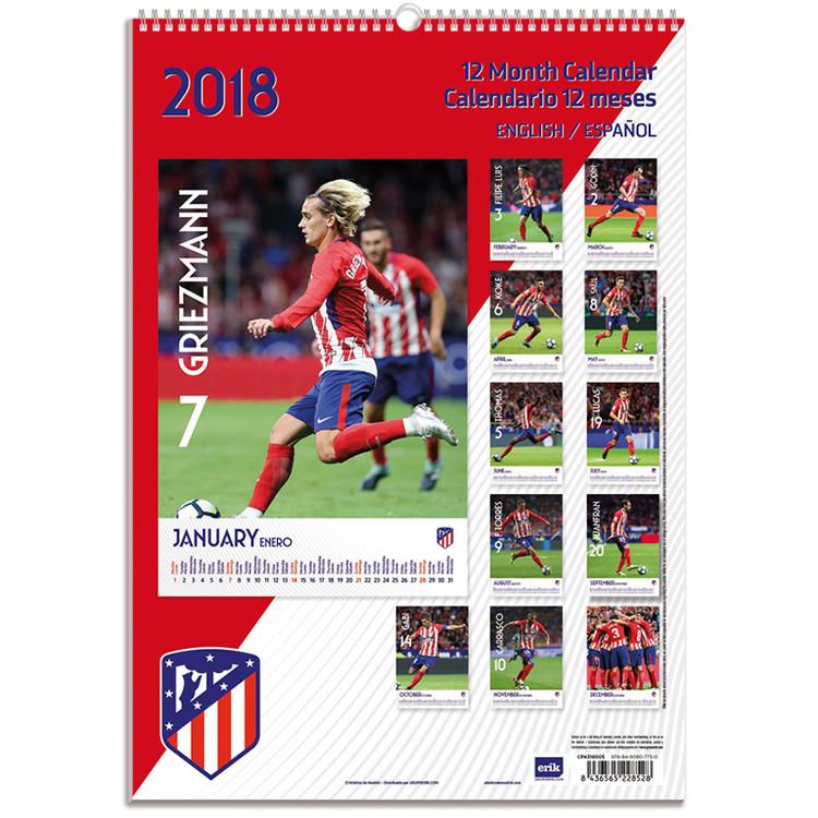 Athletico Madrid Calendrier 2021 | Acheter le sur Europosters.fr