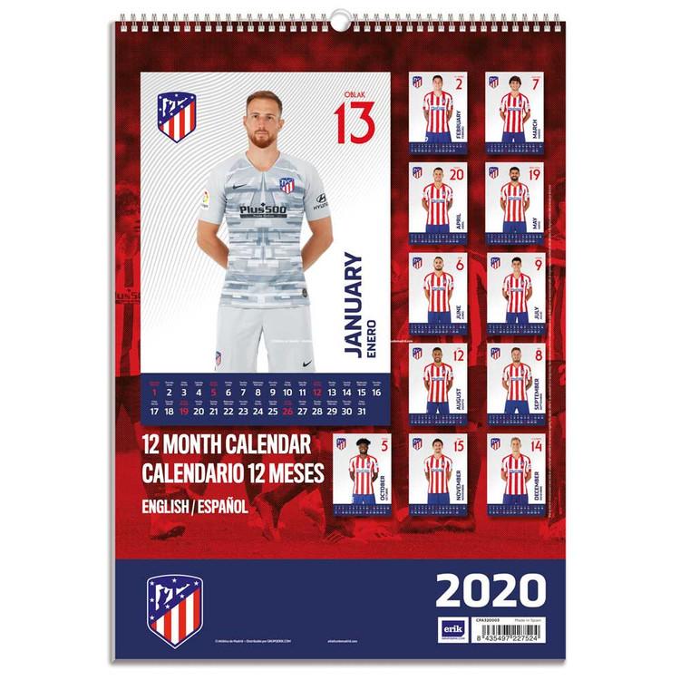 Calendrier Atletico Madrid 2022 Atletico Madrid   Calendriers 2020   Achetez sur Europosters.fr