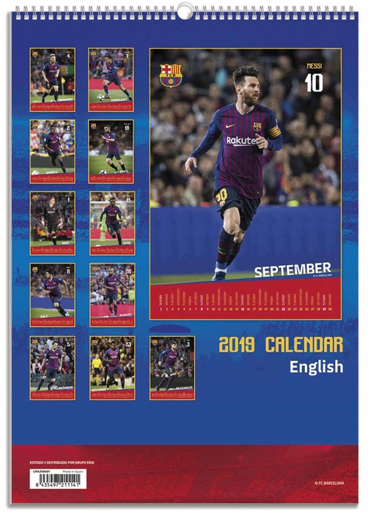 Barcelona Calendrier 2019