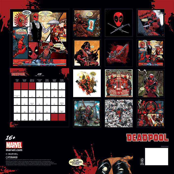 Calendrier 2020 Deadpool