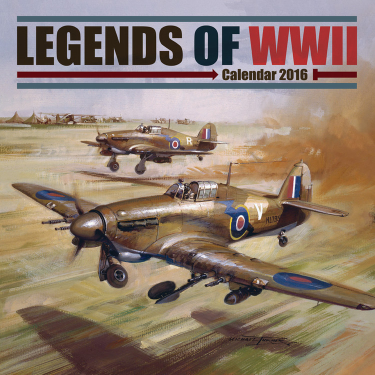 Legends of WWII Calendrier 2018