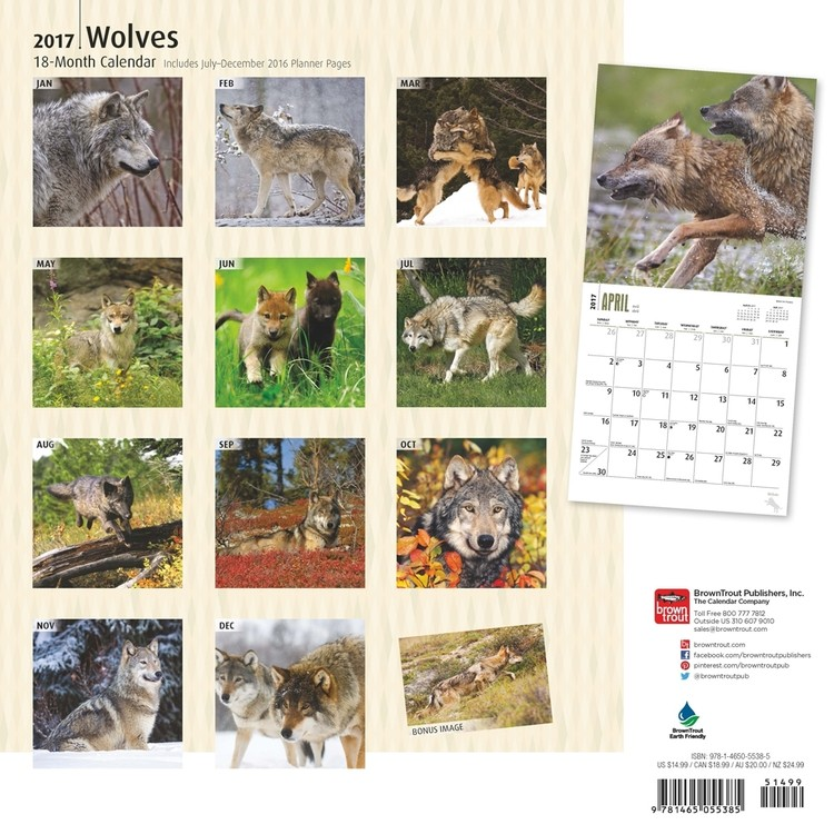 Loups Calendrier 2018