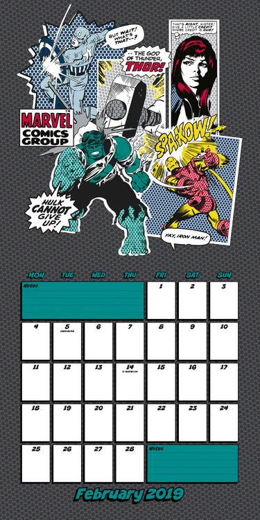 Marvel Calendrier.Marvel Comics Calendrier 2020