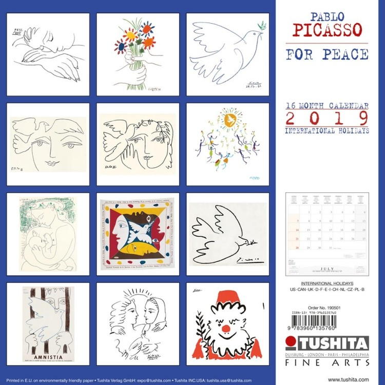 P. Picasso - War and Peace Calendrier 2019