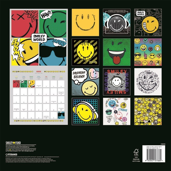 Achat Calendrier 2020.Smiley Calendrier 2020