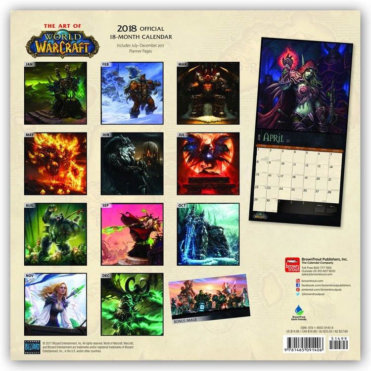World of Warcraft Calendrier 2021 | Acheter le sur Europosters.fr