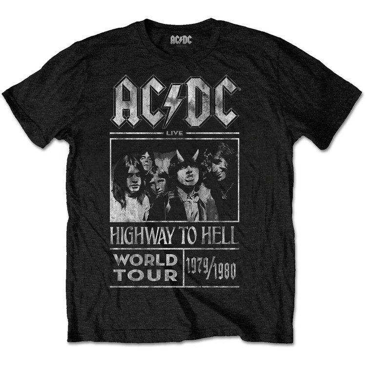 Camiseta  AC/DC -  Highway To Hell World Tour 1979/80