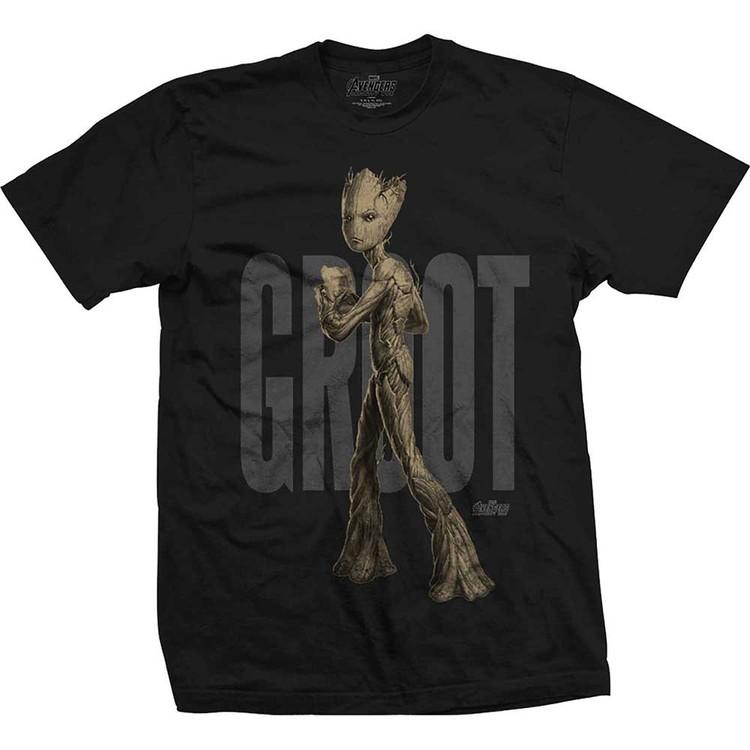 Camiseta  Avengers - Infinity War Teen Groot Text