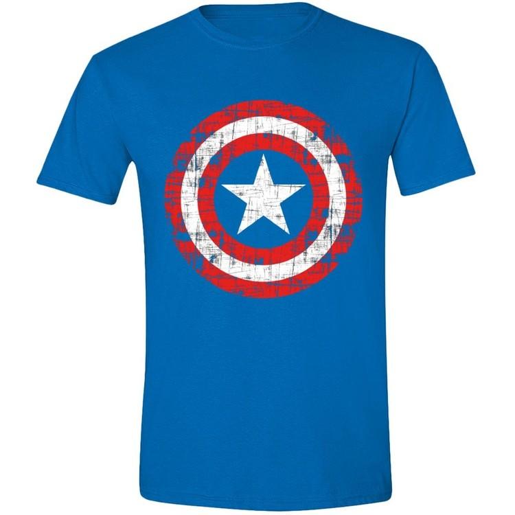 Camiseta  Captain America - Cracked Shield