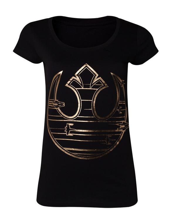 Camiseta Star Wars The Last Jedi - Gold Rebel Logo