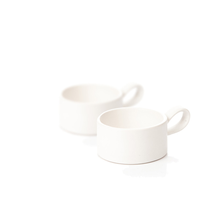 Candle Holder for Tealight Candles, 7,5 cm Matte White, set of 2 pcs Home Decor