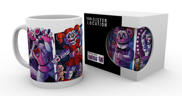 Five Nights At Freddy's - Sister Location Characters Cană