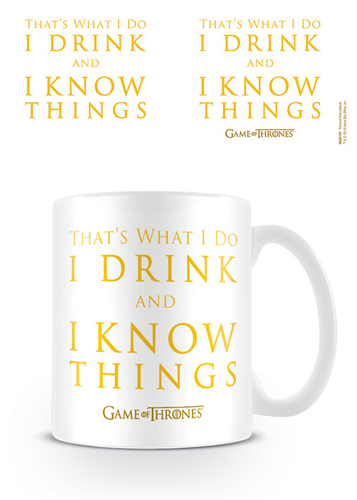 Game Of Thrones - Drink & Know Things Cană