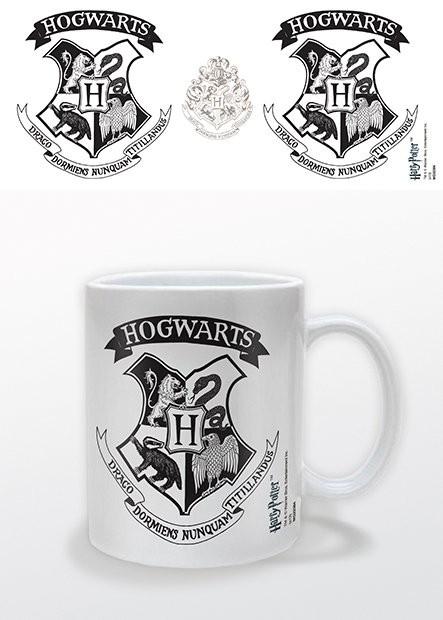 Harry Potter - Hogwarts Crest Black Cană