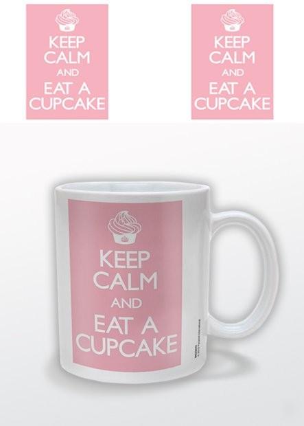 Keep Calm and Eat a Cupcake Cană
