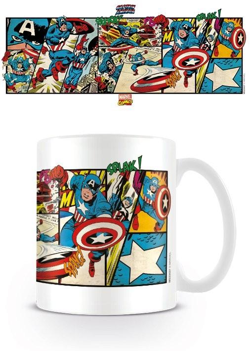 Marvel Retro - Captain America Panels Cană