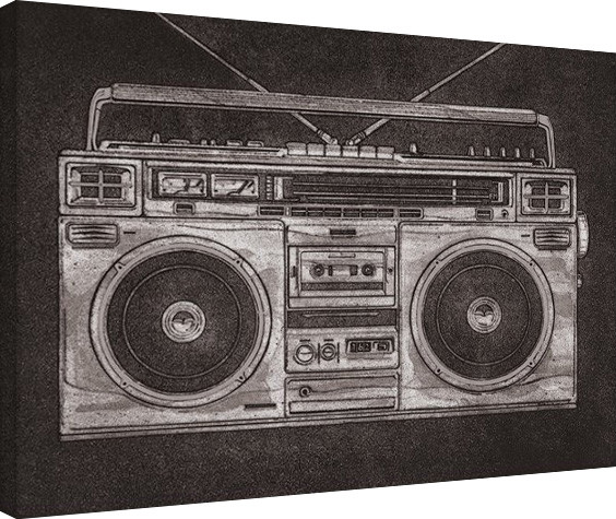 Barry Goodman - Ghetto Blaster canvas