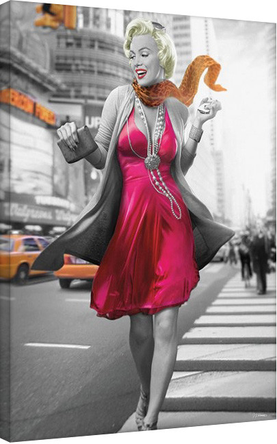 Obraz na plátně Jadei Graphics: Monroe - New York Walk