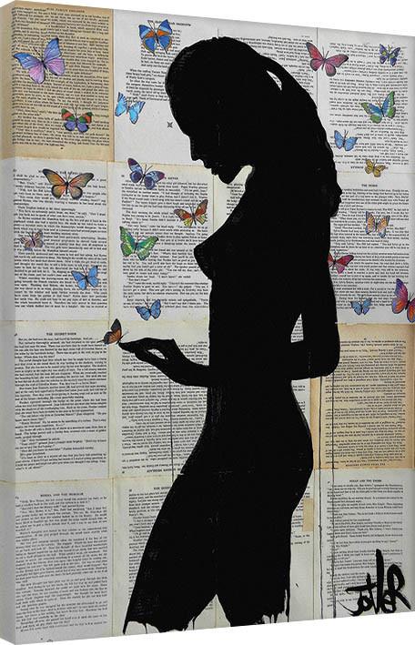 Loui Jover - Butterflies Canvas