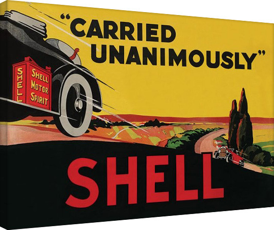 Shell - Carried Unanimously, 1923 canvas