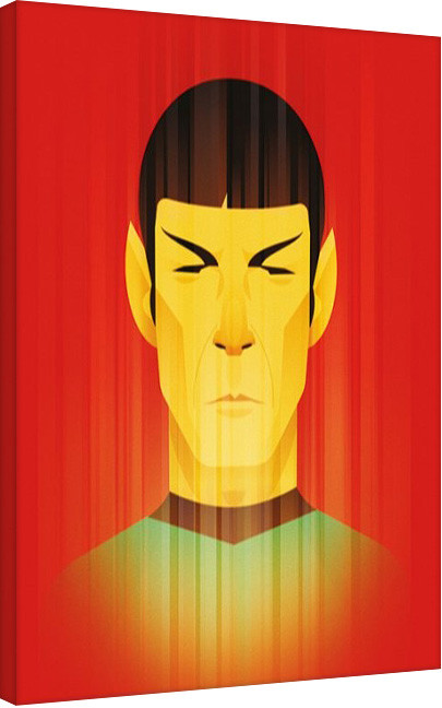 Canvas Star Trek: Beaming Spock - 50th Anniversary