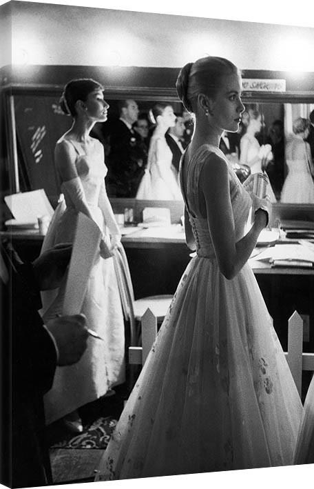 Obraz na plátne  Time Life - Audrey Hepburn & Grace Kelly