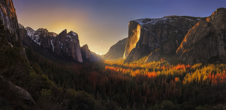 Yosemite Firefall Canvas