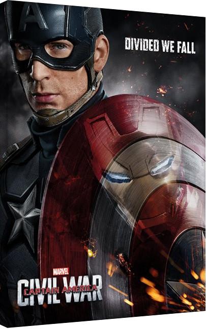 Stampa su Tela Captain America: Civil War - Reflection