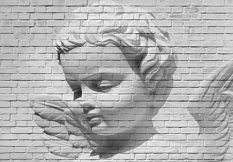 Carta da parati Angel Brick Wall