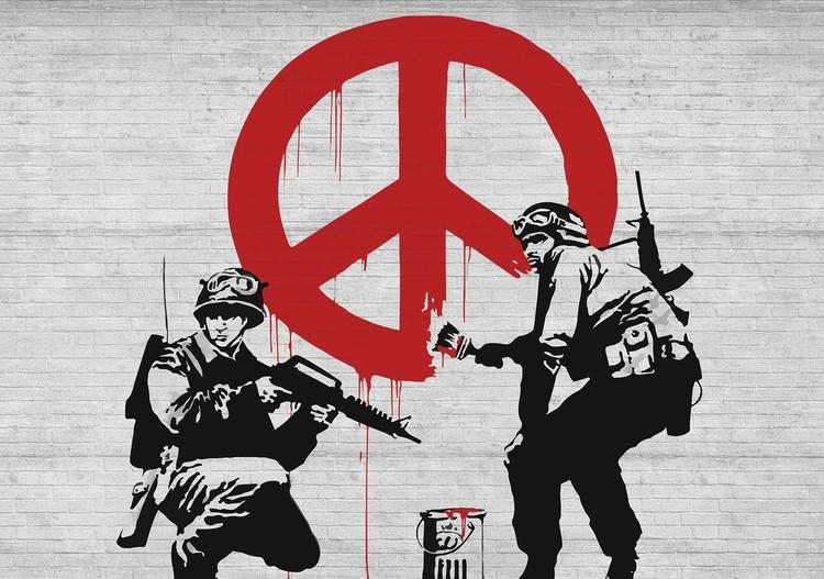 Carta da parati  Banksy Graffiti