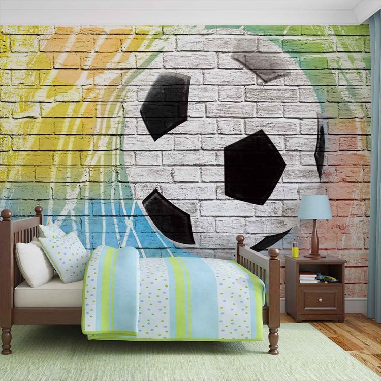 Carta da parati calcio muro di mattoni for Carta parati mattoni