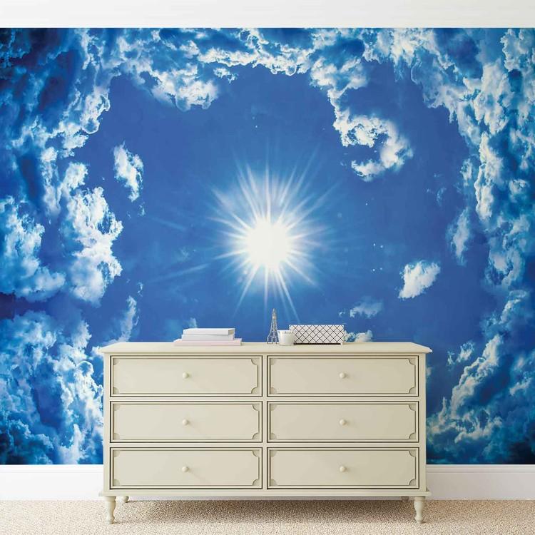 Carta da parati cielo nuvole sole natura for Carta parati natura