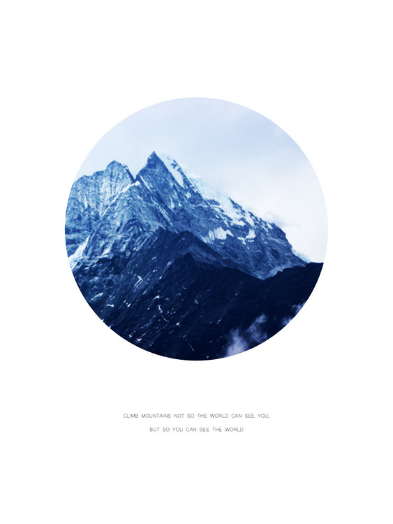 Carta da parati climb mountains not so the world can see you