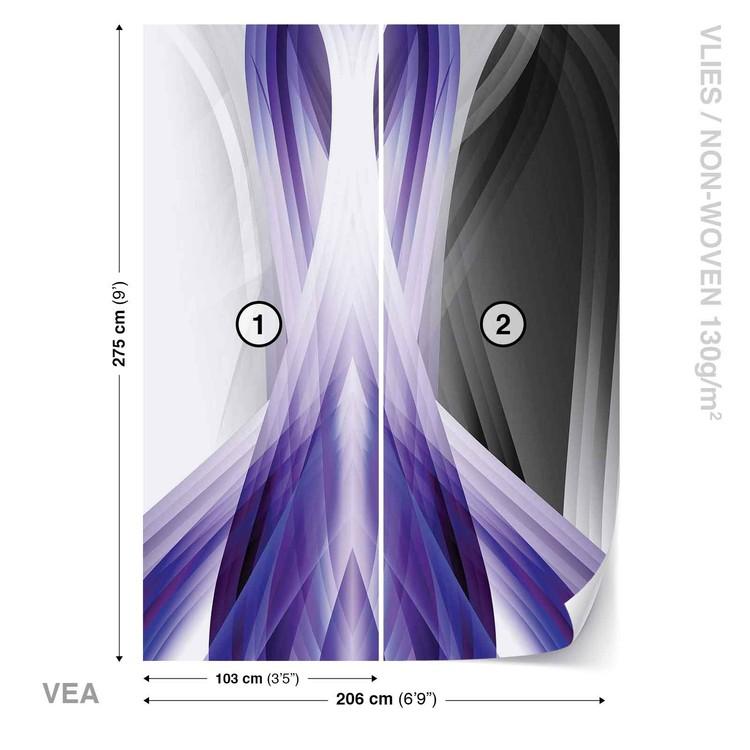 Carta da parati Composizione Luce Astratta Viola