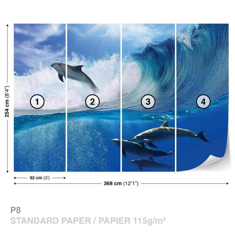 Carta Da Parati Delfini Mare Onda Natura Europosters It