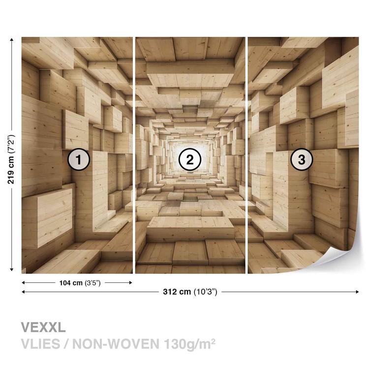 Carta da parati Disegno Astratto Moderno 3D