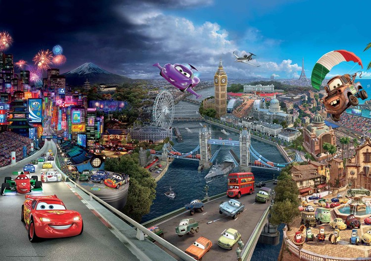 Carta da parati  Disney Cars - Motori Ruggenti Saetta McQueen Bernoulli
