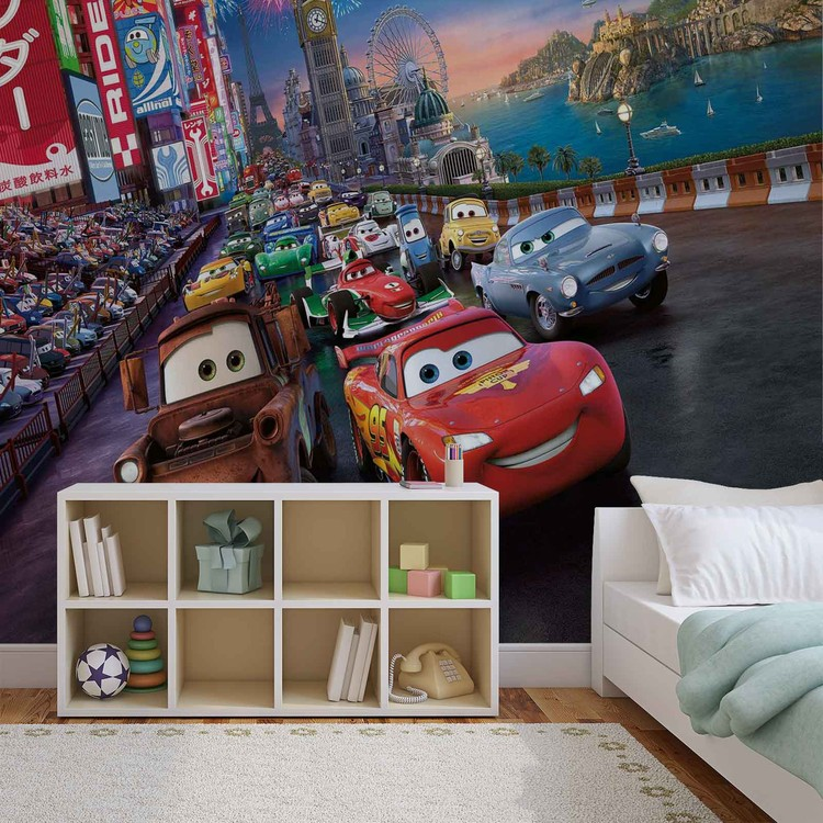 Carta da parati  Disney Cars - Motori Ruggenti Saetta McQueen Cricchetto