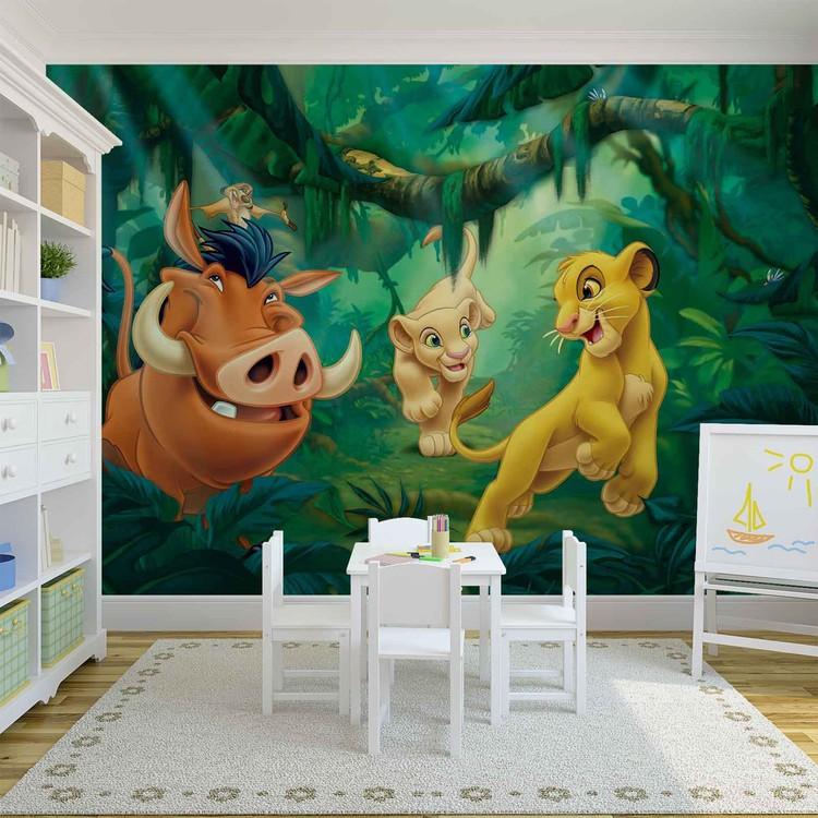 Carta da parati  Disney il Re Leone Pumba Simba