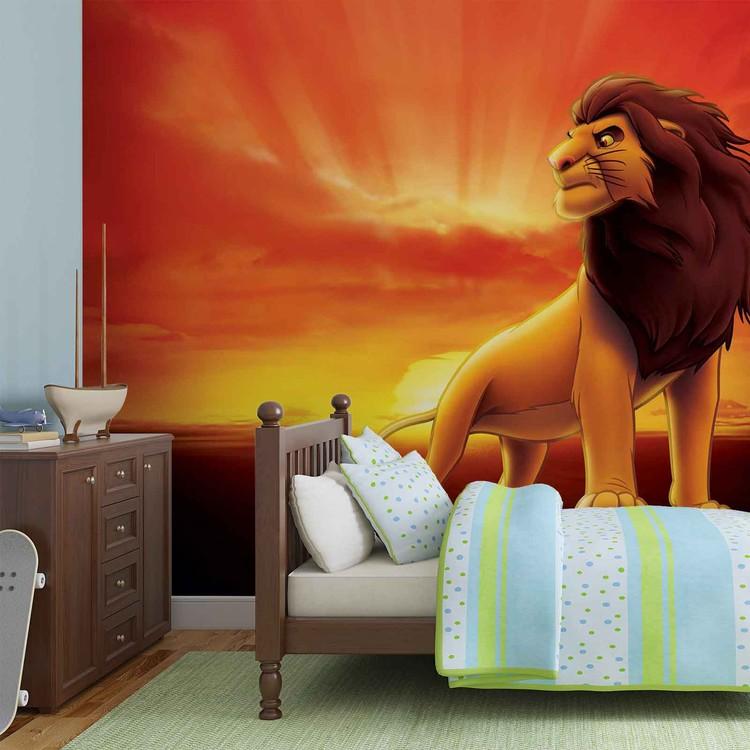 Carta da parati Disney Lion King Sunrise