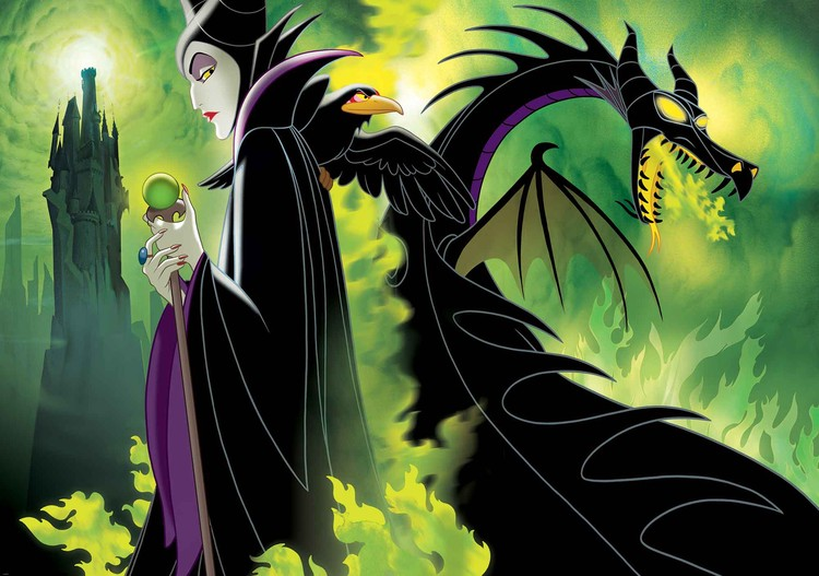 Carta da parati Disney Maleficent