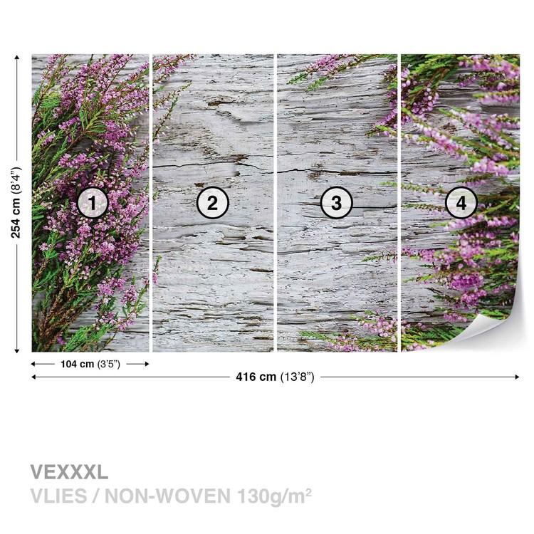 Carta da parati fiori di legno for Carta da parati 3d fiori